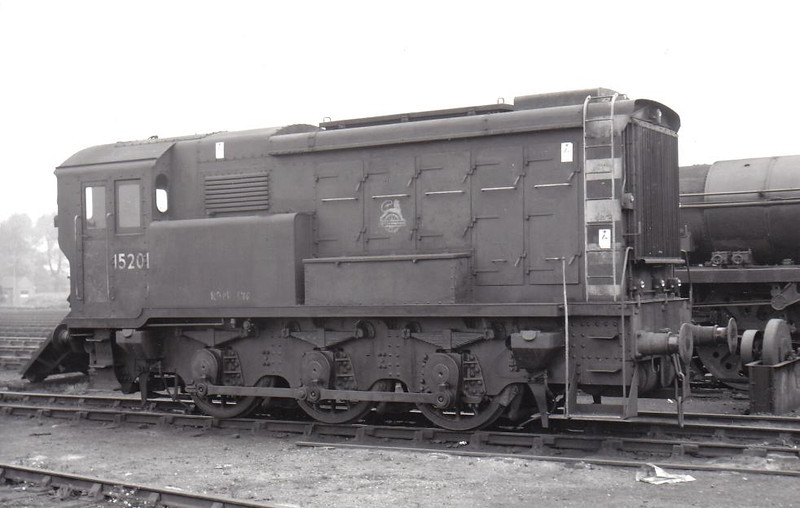 15201 - SR/EE 0-6-0 DE Shunter - built 1937 by English Electric as SR No.1 - 1948 to 15201 - withdrawn 11/64 - seen here at Eastleigh in 1953.