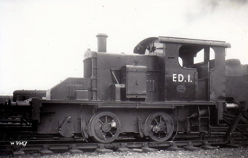 ED1 - Fowler 0-4-0 DM Shunter - built 1935 for LMS by Ruston & Hornsby as No.2 - withdrawn 06/62 as ED1