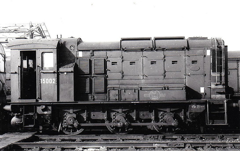 15002 - LNER/EE Class DES1 0-6-0DE Shunter - built 1944 for use by LNER at Whitemoor Hump Yard - withdrawn 08/67 - seen here at March 03/63.