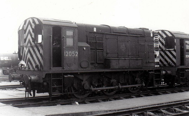 Class 11 - 12052 - LMS/EE 0-6-0DE Shunter - built 1949 by Derby Works - withdrawn 06/71 - sold to Derek Crouch, Widdrington Disposal Point.