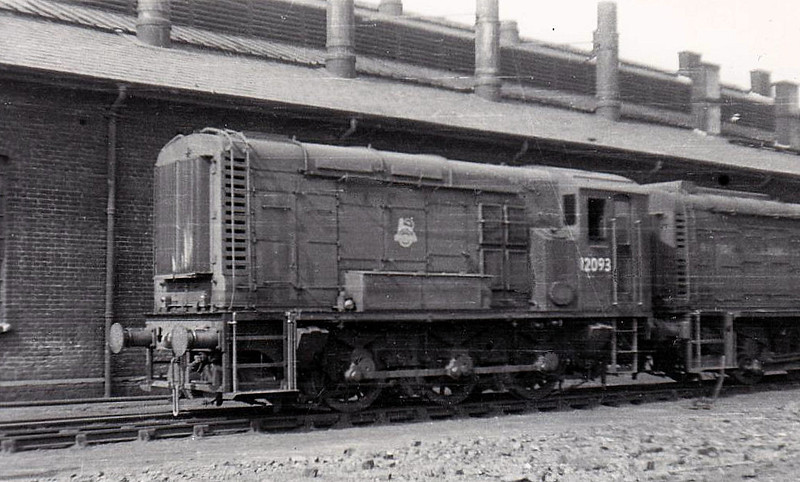 Class 11 - 12093 - LMS/EE 0-6-0DE Shunter - built 1950 by Derby Works - withdrawn 05/71 - sold to Derek Crouch, Widdrington Disposal Point.