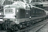 DP2 - EE Type 4 Co-Co DE - built 1962 by English Electric as prototype of Class 50 - 31/07/67 derailed at Thirsk when it ran into derailed freight train, beyond economical repair, withdrawn - seen here at Kings Cross.