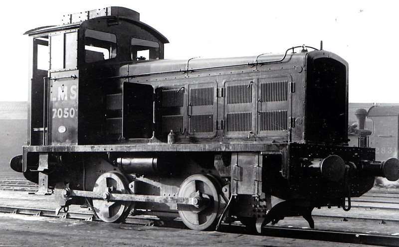 7050 - Drewry LMS 0-4-0 DM Shunter - built 1934 by Drewry Engineering - withdrawn 03/43 - preserved NRM.