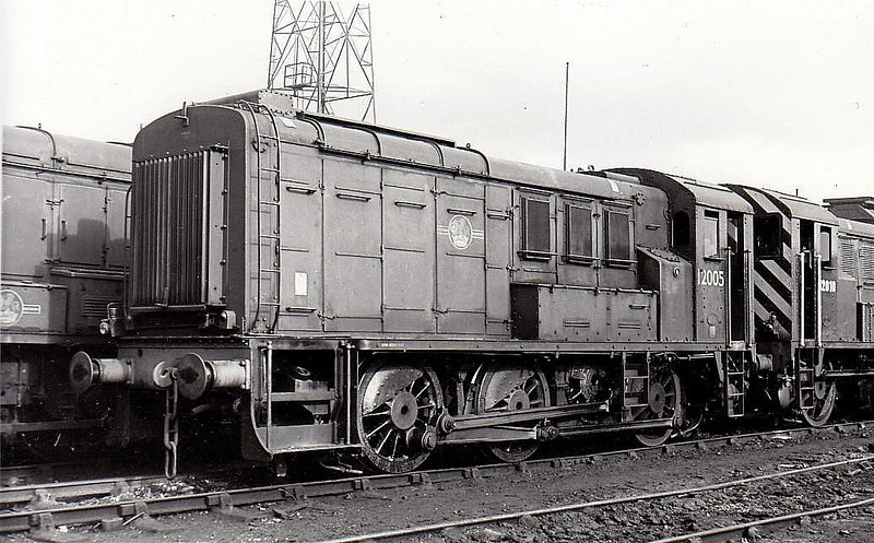 12005 - LMS/EE 0-6-0DE Shunter - built 1939 by Derby Works as LMS No.7082 - 1948 to 12005 - withdrawn 09/67.