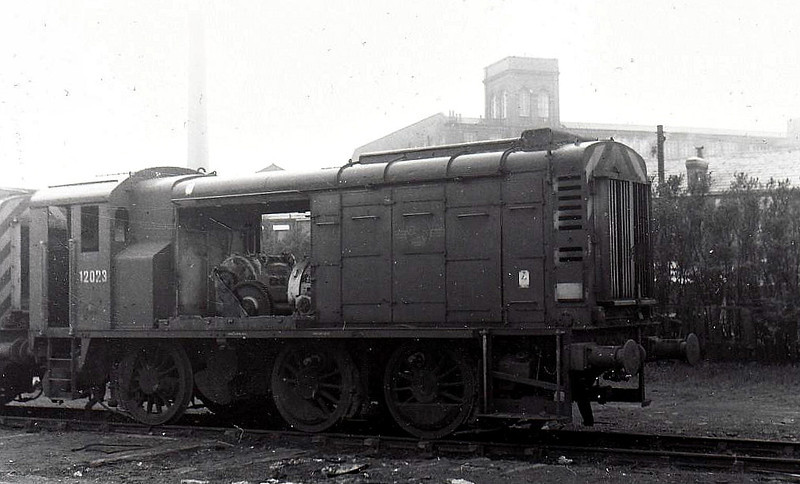 12023 - LMS/EE 0-6-0DE Shunter - built 1941 by Derby Works as LMS No.7110 - 1948 to 12023 - withdrawn 12/67.
