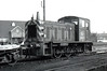 Class 03 - D2017 - BR 0-6-0DM Shunter - built 04/58 by Swindon Works - 1973 to 03 017 - withdrawn 02/82 from March TMD - seen here at Lings Lynn.