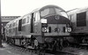 Class 21 - D6117 - North British Type 2 Bo-Bo DE - built 1959 by North British - withdrawn 08/68 - seen here at Eastfield MPD.