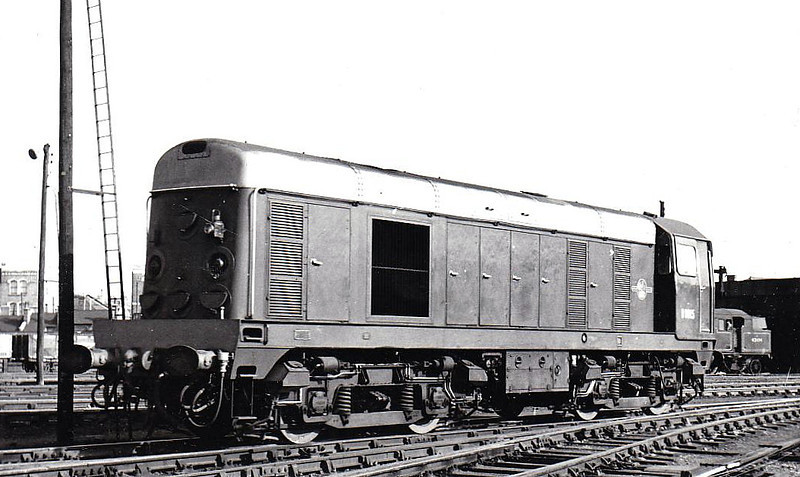 Class 20 - D8015 - EE Type 1 Bo-Bo DE - built 12/57 by English Electric - 1973 to 20 015 - withdrawn 07/87 from Immingham TMD.