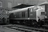 Class 23 - D5900 - EE 'Baby Deltic' Type 2 Bo-Bo DE - built 1959 by English Electric - withdrawn 12/68 - seen here at Stratford in 1969.