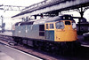 27022 - BRCW Class 27 Type 2 Bo-Bo DE - built 01/62 by BRCW as D5368 - 1973 to 27022 - withdrawn 01/85 - seen here at Glasgow Central in 1983.