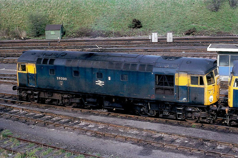 26003 - BRCW Class 26 Type 2 Bo-Bo DE - built 11/58 by BRCW as BR No.D5303 - 1973 to BR No.26003 - withdrawn 10/93.