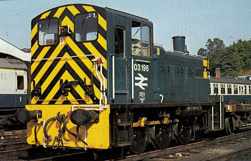 03196 - BR Class 03 0-6-0DM Shunter - built 06/61 by Swindon Works as D2196 - 1973 to 03196 - withdrawn 06/83 - preserved - seen here at Ipswich.