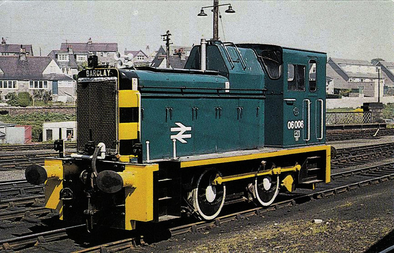06006 - AB Class 06 0-4-0DM Shunter - built 04/59 by Andrew Barclay & Co. as D2423 - 1973 to 06006 - withdrawn 07/80 from Dundee TMD - seen here at Aberdeen Ferryhill.