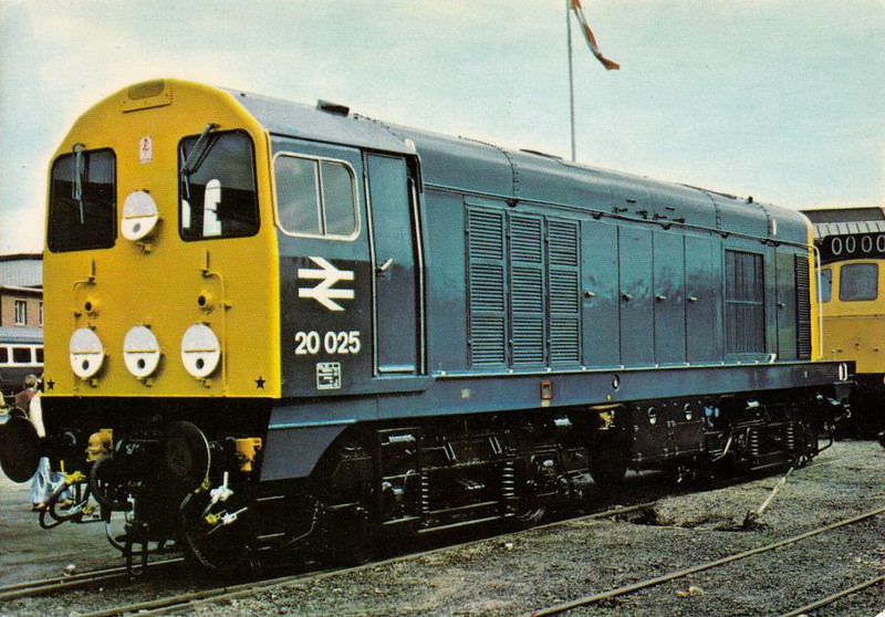 20025 - EE Class 20 Type 1 Bo-Bo DE - built 11/59 by Robert Stephenson & Hawthorn Ltd. as D8025 - 1973 to 20025 - withdrawn 09/91 from Thornaby TMD.
