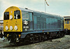 20 025 - EE Class 20 Type 1 Bo-Bo DE - built 11/59 by Robert Stephenson & Hawthorn Ltd. as D8025 - 1973 to 20 025 - withdrawn 09/91 from Thornaby TMD.