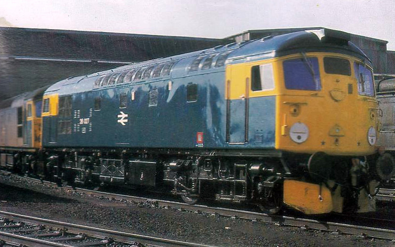 26027 - BRCW Class 26 Type 2 Bo-Bo DE - built 06/59 by BRCW as D5327 - withdrawn 07/91 - seen here at Eastfield MPD ex-Works.