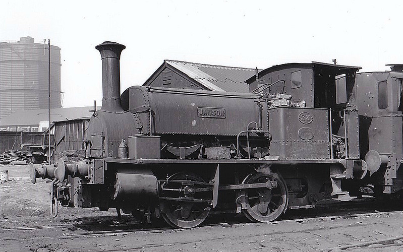 STEWARTS & LLOYDS LTD, Corby - No.33 JANSON - 0-4-0ST - built 1893 by Hunslet Engine Co., Works No.659 - seen here at Pen Green MPD, 07/51.
