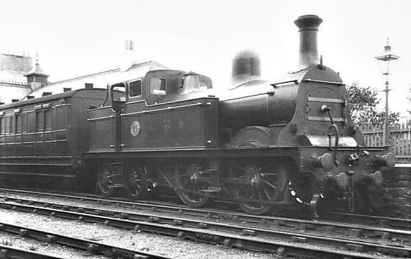 LONDONDERRY RAILWAY - 21 - 0-4-4T - built 1895 by The Londonderry Railway - 10/00 to NER No.1712 - 1909 withdrawn. The Londonderry only ever owned the one 0-4-4T and I think that this may be the same loco as in the other picture before it was reboilered with the tanks shortened. Note the two sets of buffer beams, the inner one to allow it to work with chaldron wagons.<br /> The Londonderry Railway, located not in Ireland but the North East of England, was wholly owned by the Marquis of Londonderry to move coal from his numerous coalmines to the staithes at Sunderland and, eventually, from his own deepwater port at Seaham. The mainline ran from Seaham to Sunderland and carried not only goods but boasted a regular passenger as well. In July 1900, it was bought by the NER for £400,000.