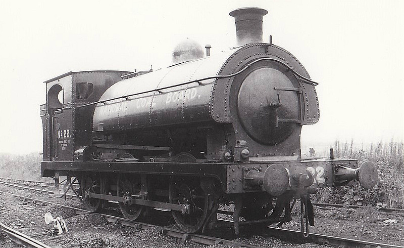 NATIONAL COAL BOARD, Cambois Colliery - No.22 - 0-6-0ST - ex-GWR No.722, Barry Railway No.102 - built 1900 by Sharp Stewart & Co., Works No.4598 - 11/35 withdrawn by GWR, sold to Cowpen Coal Co, - 1947 to NCB No.22 - 1958 scrapped.