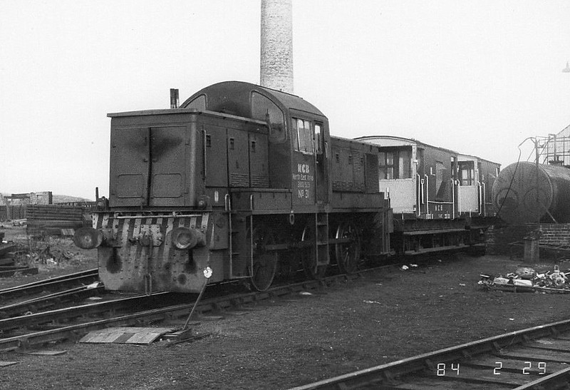 NATIONAL COAL BOARD, Ashington Colliery - No.31 - ex-BR Class 14 0-6-0DM - built 02/65 by Swindon Works as BR No.9531 - 12/67 withdrawn from 86A Cardiff Canton - 11/68 to NCB Crigglestone, 10/73 to NCB Burradon, 04/74 to NCB Ashington - 1986 withdrawn, 1987 to ELR for preservation