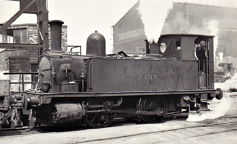 SKINNINGROVE IRON WORKS - JERSEY - 0-4-0T - ex-LSWR Class B4 0-4-0 Dock Tank - built 11/1893 by Nine Elms Works as LSWR No.81 - 09/49 sold by BR to Skinningrove Iron Works.