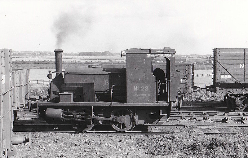 NATIONAL COAL BOARD, Backworth Colliery - No.23 - 0-4-0ST - built 1921 by Manning Wardle & Co., Works No.1999 - seen here 09/59.