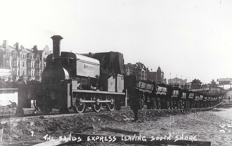THOMAS WRIGLEY & CO., HORBURY - HORBURY - 0-6-0ST built 1903 by Manning Wardle & Co., Works No.1591 - seen here working on the sea defences at Brighton.