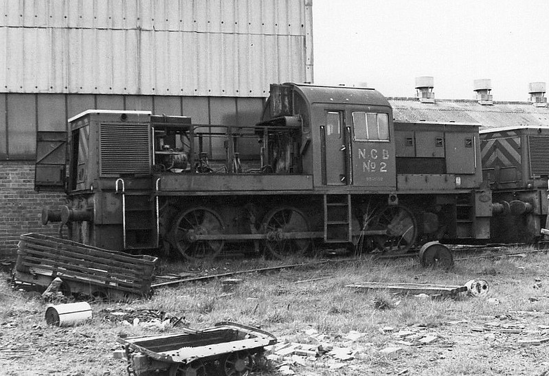 NATIONAL COAL BOARD, Ashington Colliery - No.2 - ex-BR Class 14 0-6-0DM - built 01/65 by Swindon Works as BR No.D9528 - 01/69 withdrawn from 86A Cardiff Canton - 03/69 to Ashington Colliery as NCB No.2 - 12/81 withdrawn and scrapped at North Shields.