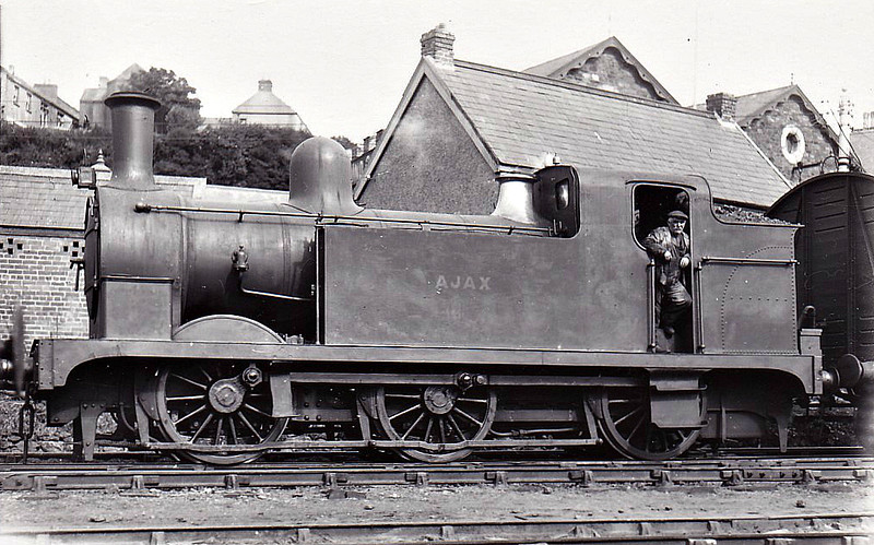 MILFORD DOCK CO., Milford Haven - AJAX - Fletcher NER Class 124 LNER Class J76 0-6-0T - built 1882 by Darlington Works as NER No.598 - 1926 sold to MDC and named AJAX - 1944 scrapped - seen here at Milford Haven.