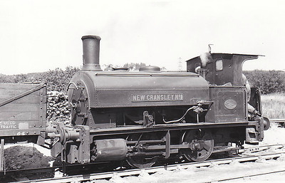 NEW CRANSLEY IRONWORKS, Kettering - NEW CRANSLEY No.1 - 0-4-0ST - built 1894 by Black Hawthorn Ltd., Works No.1045 - 01/58 scrapped - seen here in 02/53.