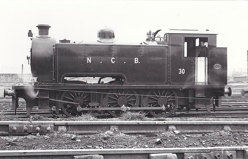NATIONAL COAL BOARD, Ashington Colliery - No.30 - 0-6-6T - built 1950 by Robert Stephenson & Hawthorn Ltd., Works No.7608 - 05/63 scrapped - seen here 03/50.