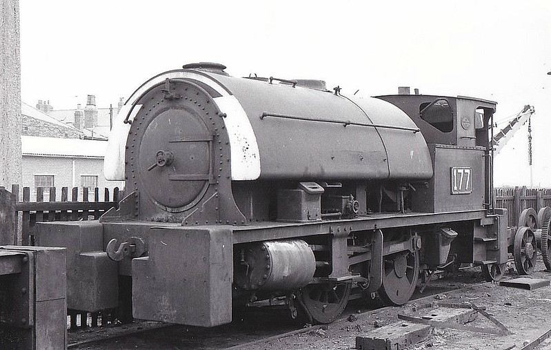 SEAHAM HARBOUR CO., Seaham - No.177 - 0-4-0ST - built 1940 by Robert Stephenson & Hawthorn Ltd., Works No.7036, for Dorman Long & Co., Britannia Works, Middlesbrough as No.177 - 11/63 sold to Seaham Harbour Co., named 'SIR ELLIS HUNTER' - 06/67 withdrawn - seen here 05/64.