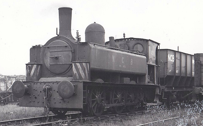 NATIONAL COAL BOARD, Derwenthaugh Colliery - No.41 - 0-6-0PT - built 1883 by Kitson & Co., Works No.2509 - 1972 withdrawn - ex Consett Iron Co. No. A No.5 - preserved.