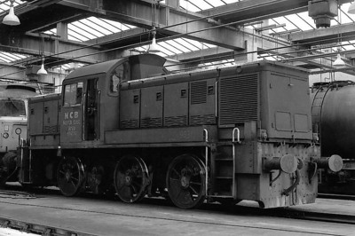 NATIONAL COAL BOARD, Ashington Colliery - 9312/92 - BR Class 14 Type 1 0-6-0 DM - built 1965 by Swindon Works as D9531 - withdrawn 12/67 - sold to NCB Ashington Colliery - seen here at Thornaby TMD.
