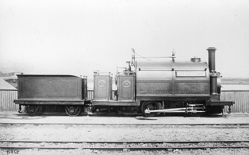 FFESTINIOG RAILWAY - No.6 LITTLE GIANT - 0-4-0STT - built 1867 by George England & Co. - 1932 scrapped - sister to No.5 WELSH PONY.