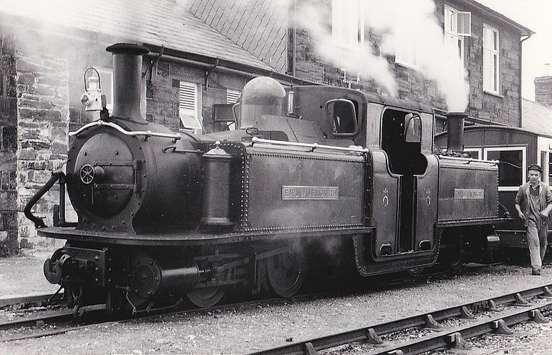 FFESTINIOG RAILWAY - No.11 EARL OF MERIONETH - Double Fairlie 0-4-4-0T - built 1886 at Boston Lodge Works as FR No.3 LIVINGSTON THOMPSON - 1932 named TALIESIN, 1961 renamed EARL OF MERIONETH - 1971 withdrawn - 1988 restored as static display at NRM, York, under original name.