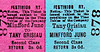 FFESTINIOG RAILWAY TICKET - TANY GRISIAU - Second Class Return to Minfford Junction, fare 3s 0d. Minfford Junction was the interchange station with the Cambrian Railway,