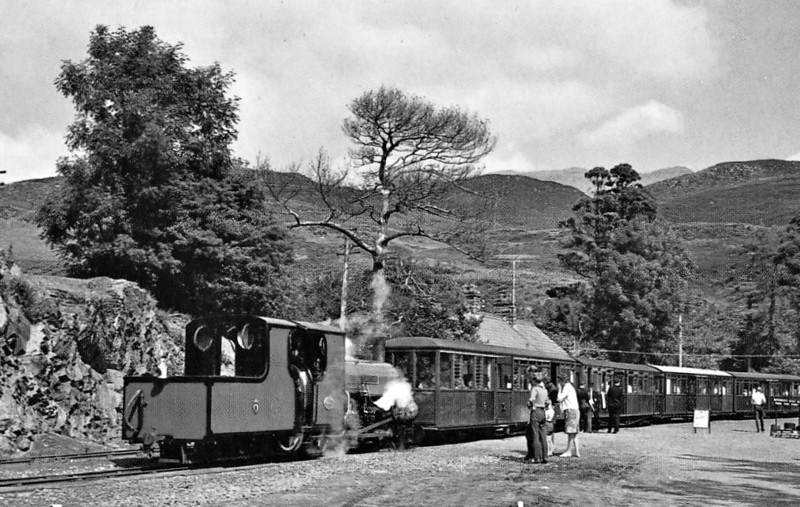FFESTINIOG RAILWAY - BLANCHE - 2-4-0STT - built 1893 by Hunslet Engine Co. for the Penrhyn Quarry Railway as 0-4-ST - 1963 bought by FR - 1972 rebuilt in present form - seen here an Tan-Y-Bwlch in the 1970's.