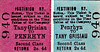 FFESTINIOG RAILWAY TICKET - PENRHYN - Second Class Return to Tany Grisiau, fare 2s 4d.