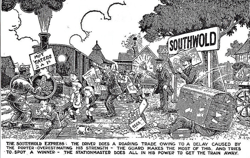 SOUTHWOLD RAILWAY - SORROWS OF SOUTHWOLD No.7.
