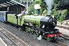 No.1 GREEN GODDESS - 4-6-2 built 1925 by Davey Paxman & Co. - based on LNER Class A1 - awaits departure at New Romney with a train for Hythe, 27/07/10.