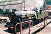 No.1 GREEN GODDESS - 4-6-2 built 1925 by Davey Paxman & Co. - based on LNER Class A1 - on the turntable at New Romney, 29/07/99.