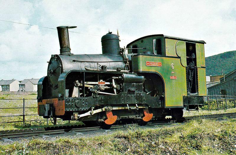 SNOWDON MOUNTAIN RAILWAY - No.6 PADARN - 0-4-2T - 800mm - built 1922 by Swiss Locomotive and Machine Works, Winterthur - still in operation - seen here at Llanberis.