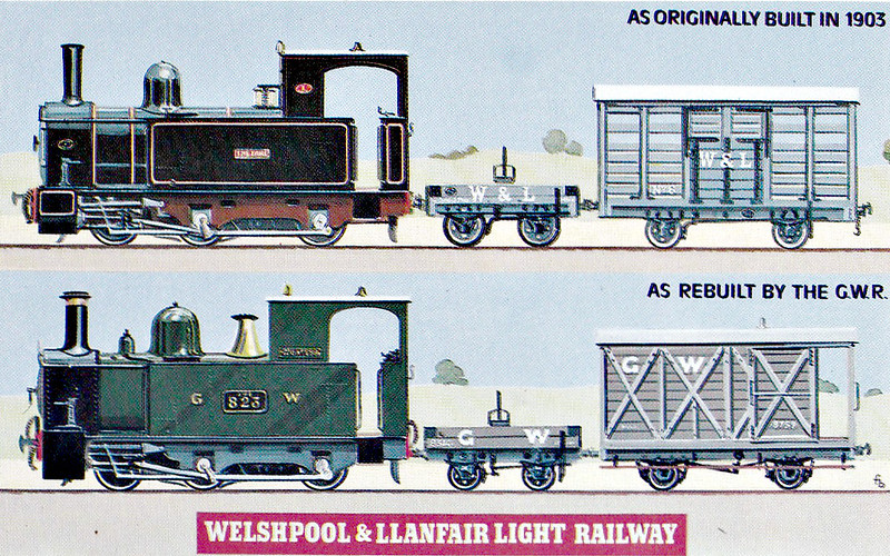 WELSHPOOL & LLANFAIR LIGHT RAILWAY No.1 - The locomotives of the Company. Only minor alterations were made by the GWR after 1923 but, by 1931, both locomotives and most of the goods stock had been rebuilt.
