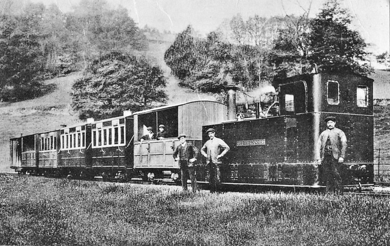 GLYN VALLEY TRAMWAY - SIR THEODORE - 0-4-2T - 724mm  gauge - built 1888 by Beyer Peacock Ltd, Works No.2969 - 1905 loaned to the Snailbeach District Railways - 1936 scrapped.