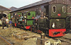 TALYLLYN RAILWAY - SERVICING ENGINES AT TYWYN - No.6 DOUGLAS, No.3 SIR HAYDN and No.4 EDWARD THOMAS all receiving attention.