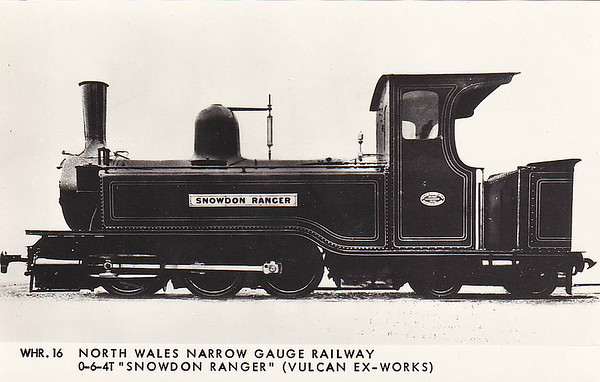 NORTH WALES NARROW GAUGE RAILWAY - SNOWDON RANGER - Single Fairlie 0-6-4T - 597mm - built 1875 by Vulcan Foundry Co., Works No.739  - 1917 withdrawn, cannibalised to repair MEOL TRYFAN.