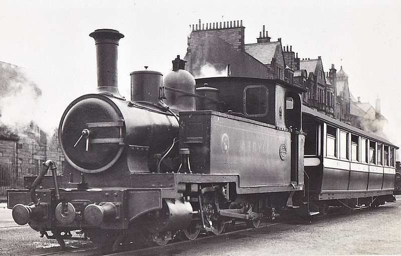 CAMPBELTOWN & MACHRIHANISH LIGHT RAILWAY - ARGYLL - 0-6-2T - 686mm - built 1906 by Andrew Barclay & Co., Works No.1049 - 05/34 scrapped in situ seen here 08/30.