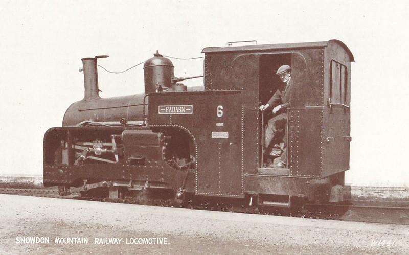 SNOWDON MOUNTAIN RAILWAY -  No.6 PADARN - 0-4-2T - 800mm - built 1922 by Swiss Locomotive and Machine Works, Winterthur - still in operation.