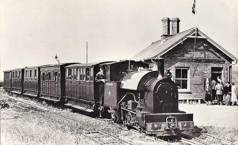 TALYLLYN RAILWAY - 4 EDWARD THOMAS - 0-4-2ST - 686mm - built 1921 by Kerr Stuart & Co., Works No.4047 for the Corris Railway - 1951 bought by Talyllyn Railway - still in operation - seen here at Tywyn Wharf Station.